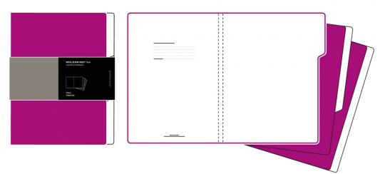 Moleskine Folio Professional 3 Registermappen dunkelrosa.
