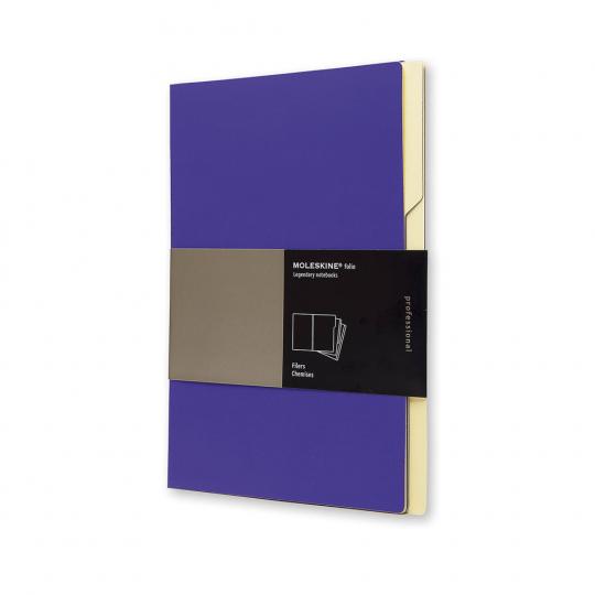 3 »Moleskine«-Registermappen, violett.