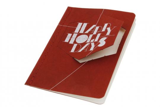 Moleskine Ornament-Postkarte »Holiday Hexagon«, klein.