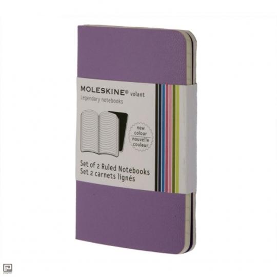 Moleskine Volant 2 Notizhefte Violett liniert klein.