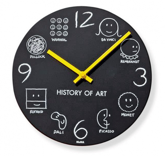 MoMA Wanduhr »History of Art«.