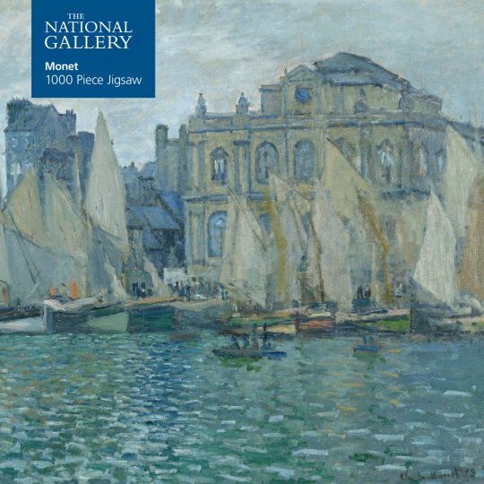 Kunstpuzzle mit 1000 Teilen. Monets »The Museum at LeHavre«.