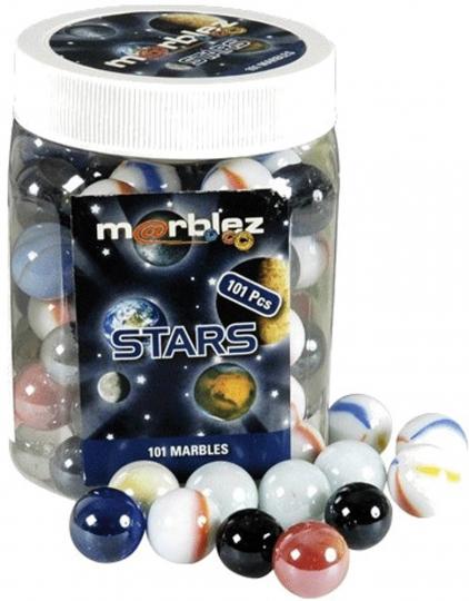 Murmeln aus Glas. Sterne und Planeten.