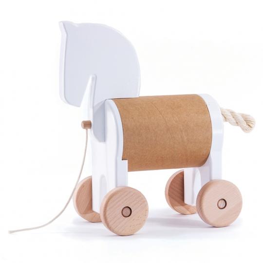 Nachziehtier »Pony« mit Geheimfach.