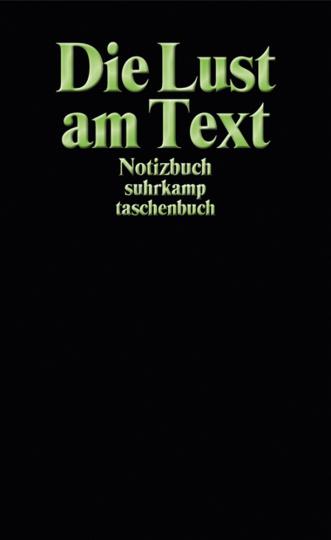 Notizbuch suhrkamp taschenbuch. Die Lust am Text.
