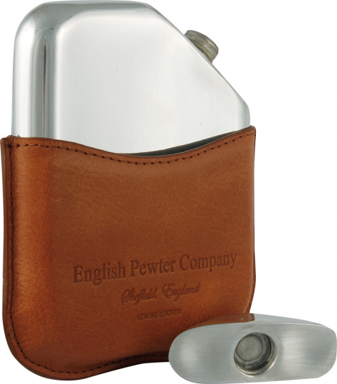 Novus Flask. Flachmann in Ledertasche.