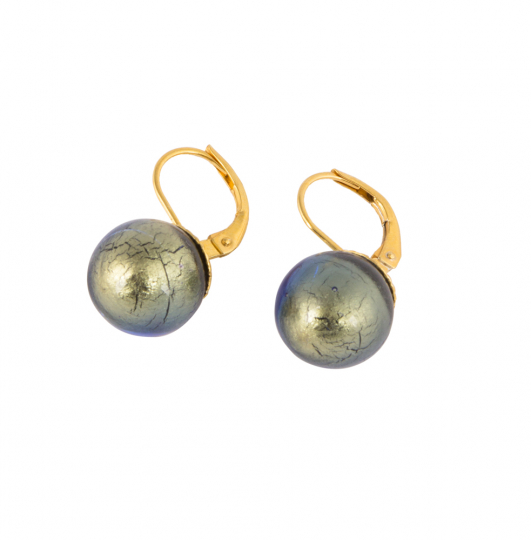 Ohrringe aus Murano Perle, blau.