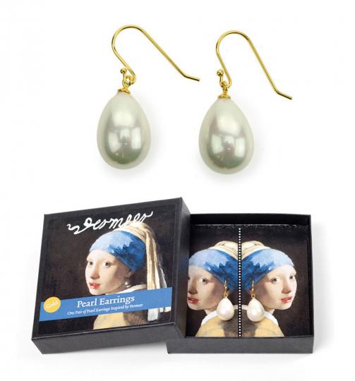 Ohrringe nach Vermeers »Das Mädchen mit dem Perlenohrgehänge«.