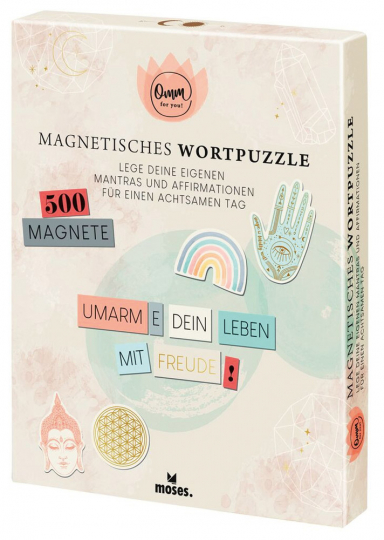 Omm for you. Magnetisches Wortpuzzle.