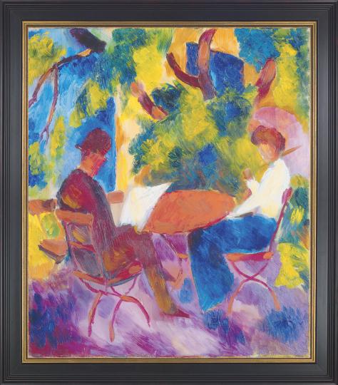 Paar am Gartentisch August Macke (1887-1914).
