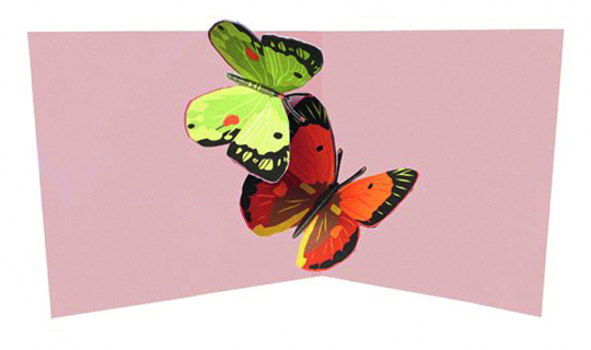 Pop-Up Grußkarte Zwei Schmetterlinge.