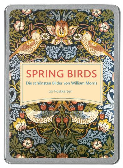 Postkarten-Set »Spring Birds«. Die schönsten Bilder von William Morris.