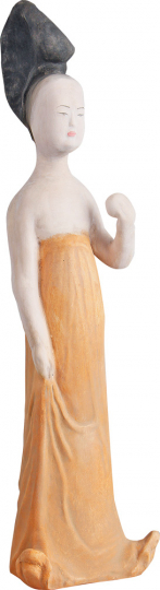 Prinzessin mit Apfel, 7. bis 8. Jh. Museumsreplik.