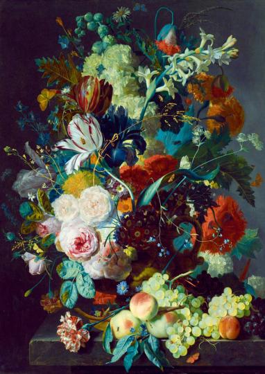 Puzzle Jan van Huysum »Stillleben mit Blumen und Früchten«.