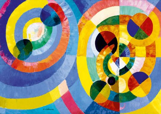 Puzzle Robert Delaunay »Kreisformen«.