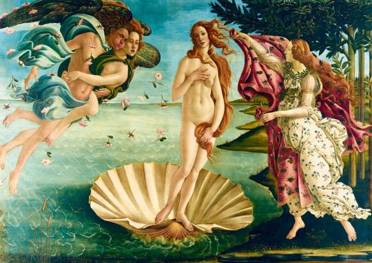 Puzzle Sandro Botticelli »Die Geburt der Venus«.