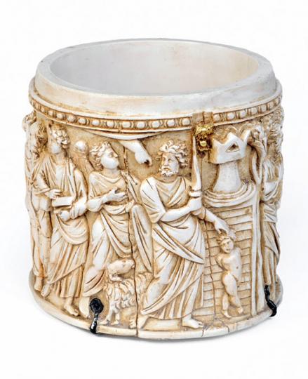 Pyxis, byzantinisch, um 400 n.Chr.