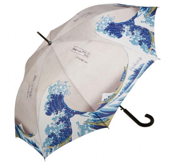 Regenschirm mit Kunst Hokusai.