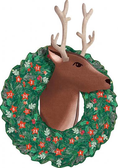 Rentier-Weihnacht. 3D-Wandkalender.