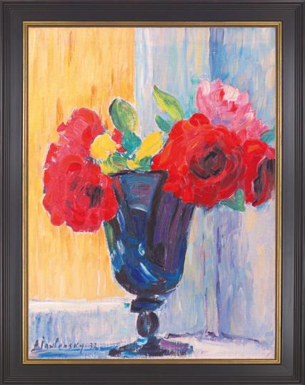 Rosen in blauer Vase. Alexej von Jawlensky (1864-1941).