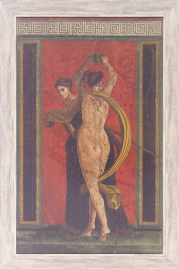 Rotes Fresko aus der Villa dei Misteri in Pompeji.