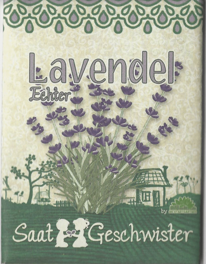 Bio-Saatgut Echter Lavendel (Lavandula angustifolia).