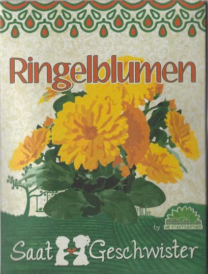 Saatgut Ringelblumen (Calendula officinalis).