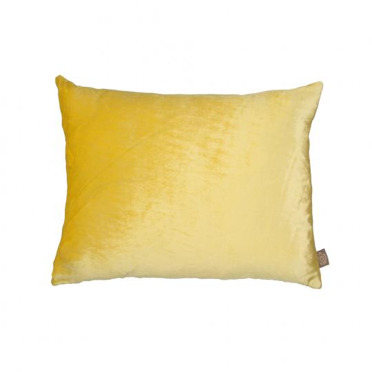Samtkissen 40 x 50 cm, gelb.