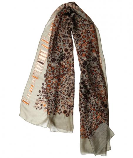 Schal aus Seide »Klimt«, taupe.