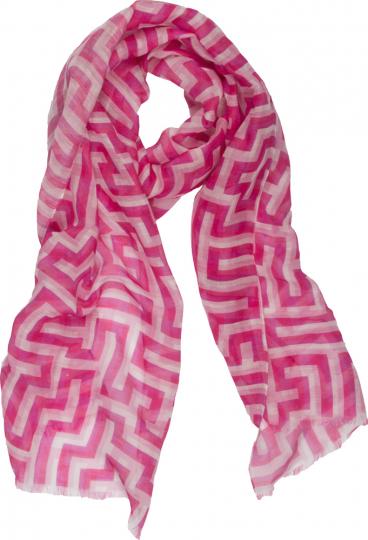 Schal nach Anni Albers »Mäander«, pink.