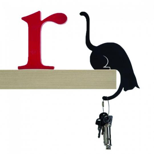 Schlüsselhalter »Katze«, gebeugt.