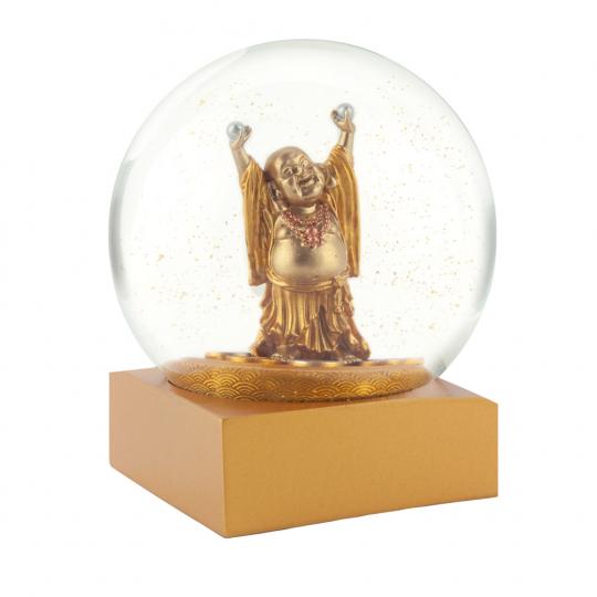 Schneekugel mit »Buddha«.