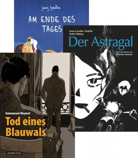 Schreiber und Leser. Graphic Novel Set. 3 Bände.