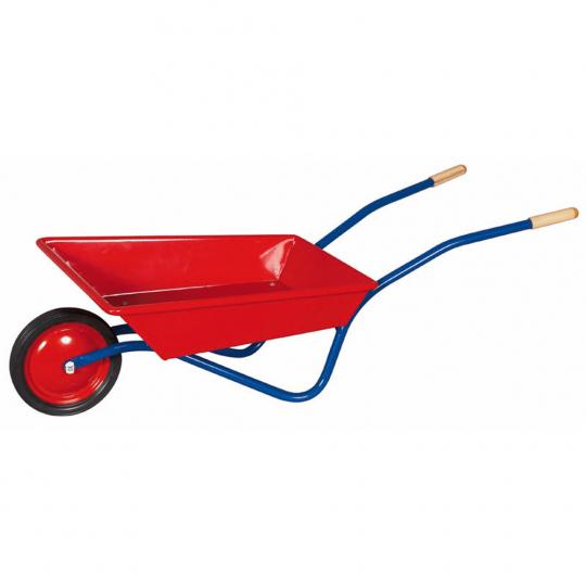 Schubkarre für Kinder, rot-blau.