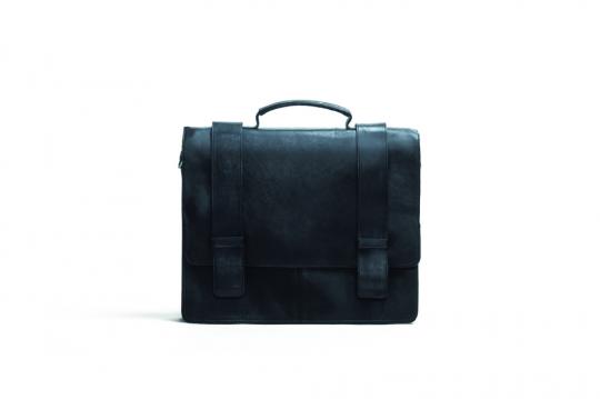 Schwarze Aktentasche. Groß.