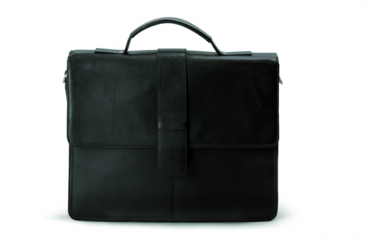 Schwarze Aktentasche, klein.