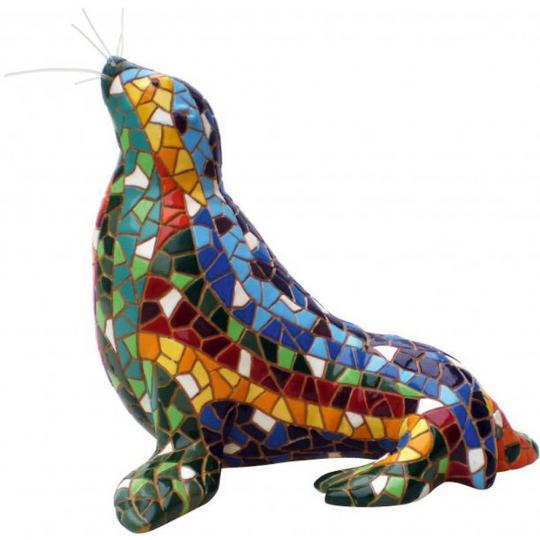 Seehund aus Mosaik.