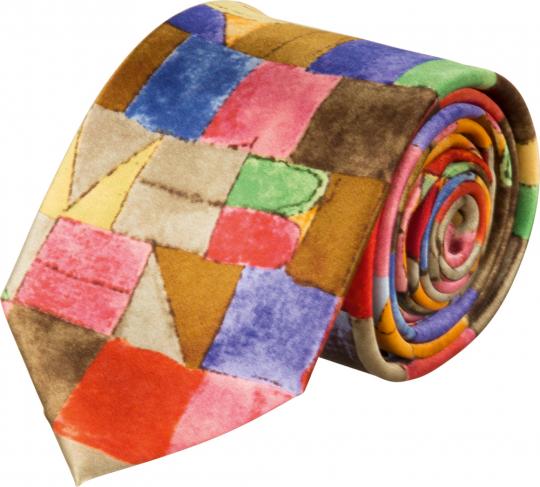 Seidenkrawatte Paul Klee »Einst dem Grau der Nacht enttaucht«.