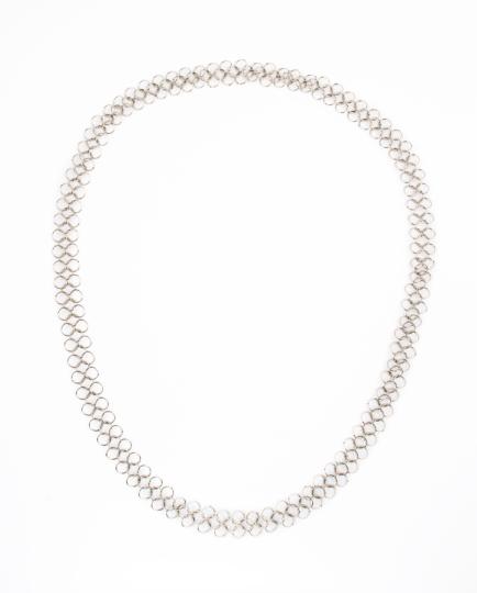 Silber Gliederkette mit großen Gliedern.