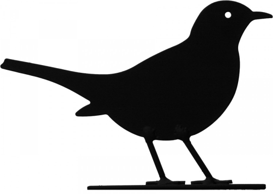 Silhouette »Amsel«.