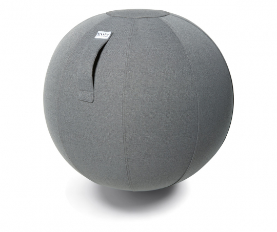 Sitzball aus Stoff, betongrau.