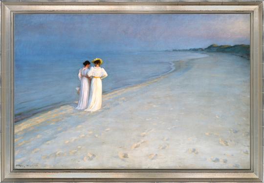 Sommerabend bei Skagen. Peder Severin Kroyer (1851-1909).