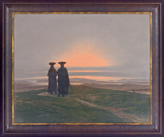 Sonnenuntergang (Die Brüder). Caspar David Friedrich (1774-1840)