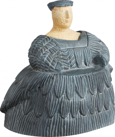 Statuette einer Frau aus Bactria, 2000 v. Chr. Museumsreplik.