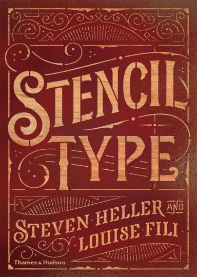 Stencil Type. Schablonendesign.