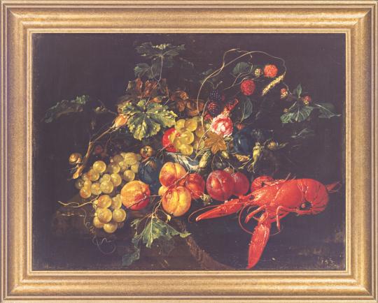 Stilleben mit Früchten und Hummer. Cornelis de Heem (1631-1695).