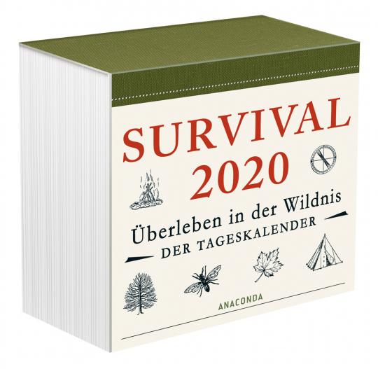Survival 2020. Überleben in der Wildnis. Der Tageskalender.