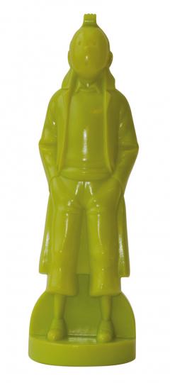 Tim als Oscar Figur, grün.