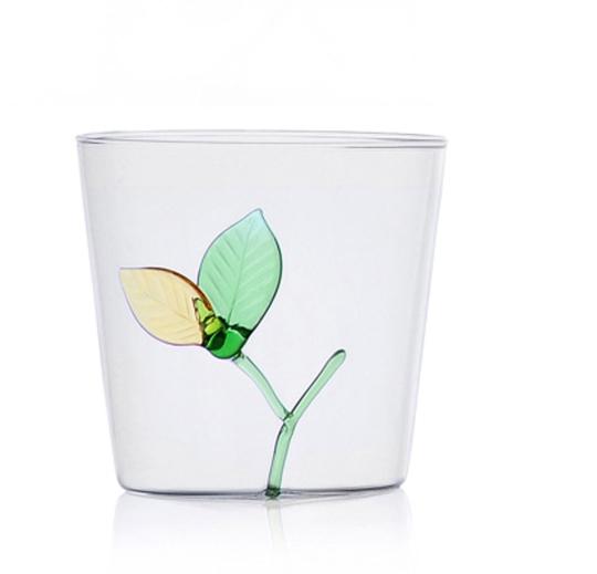 Trinkglas »Blättchen«.
