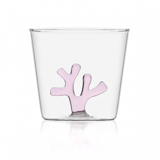 Trinkglas »Koralle«, rosa.